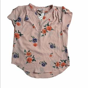 41 HAWTHORNE PINK FLORAL BLOUSE - NWT!